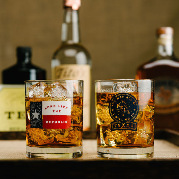 ... Texas Double Old Fashioned Whiskey Glasses