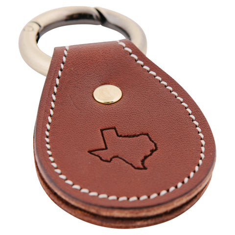 Texas Leather Key Fob - Brown