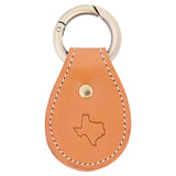 Texas Leather Key Fob - Tan