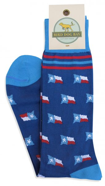 Bird Dog Bay Texas Time Socks - Blue