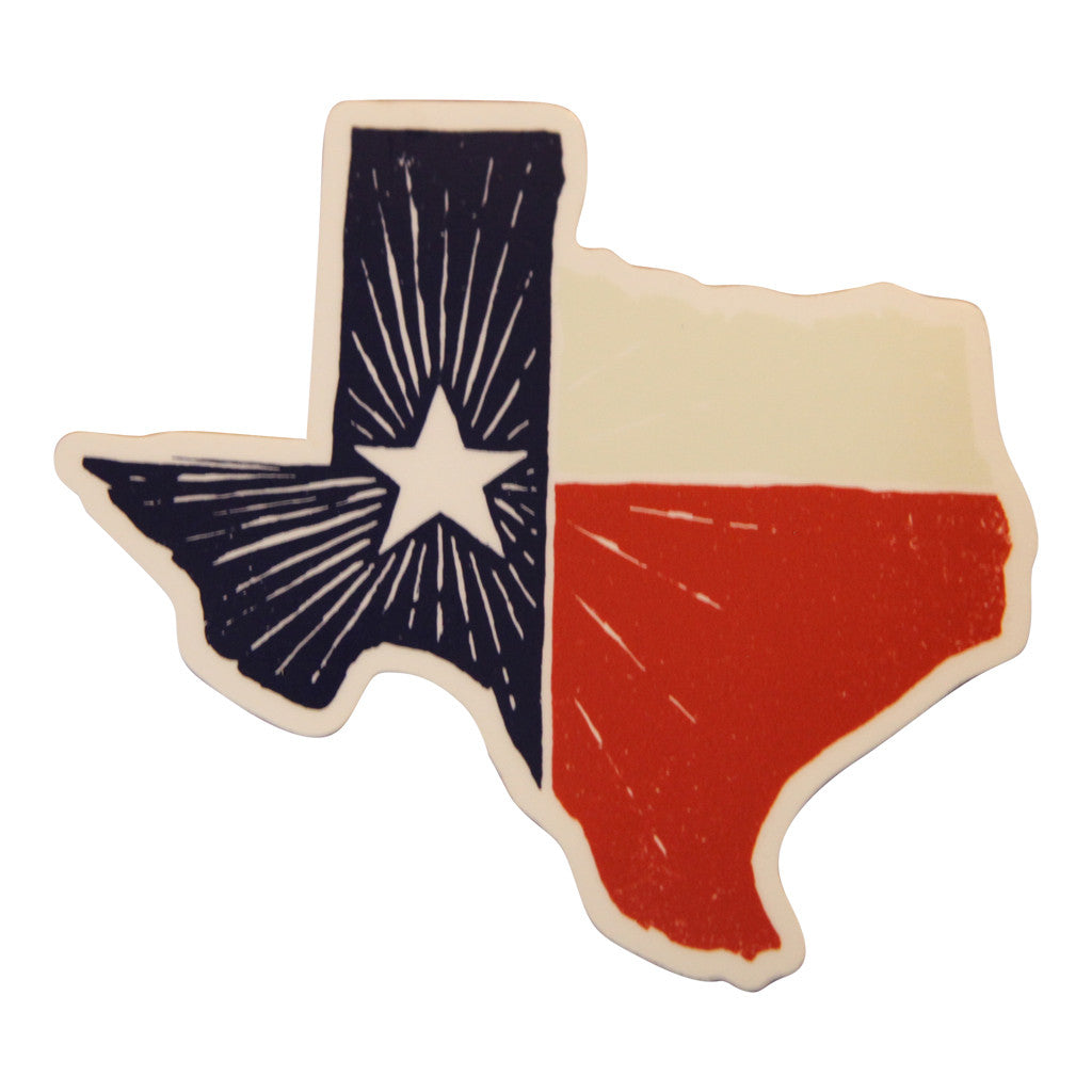 Texas State Flag Decal