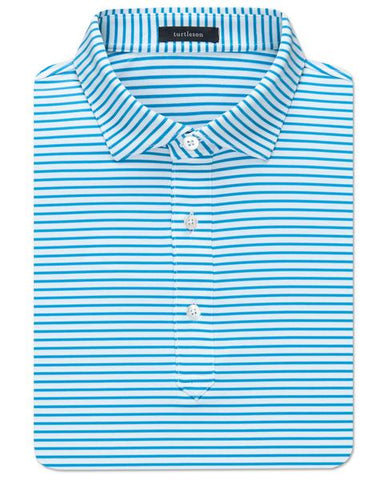 Jeff Stripe Performance Polo - Malibu