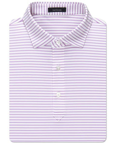 Jeff Stripe Performance Polo - Whisper