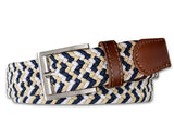 Thistle Stretch Belt Khaki/Navy/White