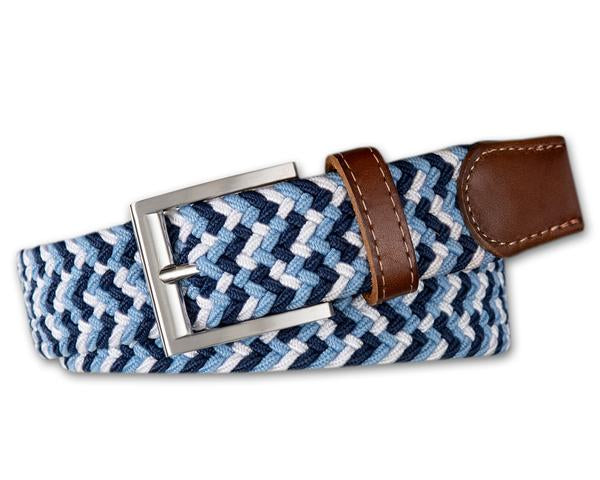 Thistle Stretch Belt Navy/Sky/White