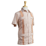 University of Texas Longhorn Guayabera with Burnt Orange Embroidery, Mexican Shirts for Men