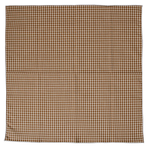 Wrong Side Pocket Square - Brown Gingham