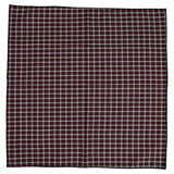 Wrong Side Pocket Square - Red & Black Plaid