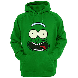 Rick and Morty Rick pickle face Hoodie