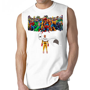One punch man Saitama VS Super heroes Sleeveless Men's T-Shirt