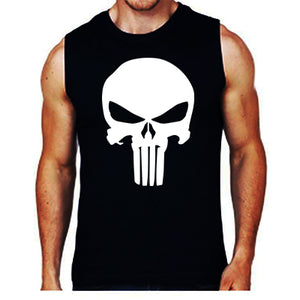 The Punisher logo Sleeveless Men's T-Shirts