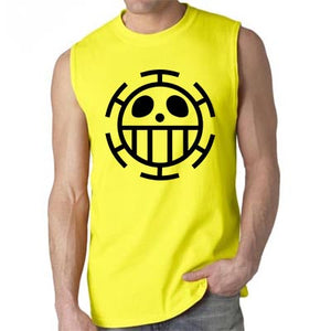 One piece Trafalgar law logo Sleeveless Men's Shirt