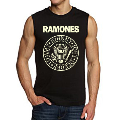 Classic logo Ramones Sleeveless Men's T-Shirts