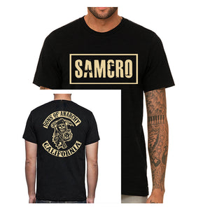 Sons of Anarchy SAMCRO Front Biker Crew back and front Men's T-Shirt