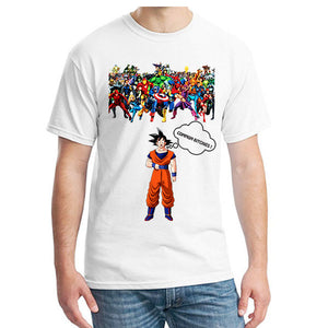 "Son Goku VS Super Heroes Men""s T-Shirt"