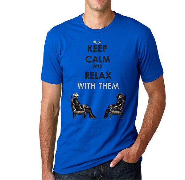 Daft punk keep calm and relax with them Men's T-Shirt