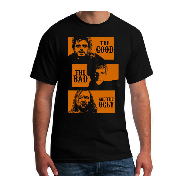 Game of Thrones parody the good the bad and the ugly Men's T-shirt