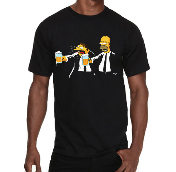 Barney and Homer Pulp fiction parody Men's T-Shirt