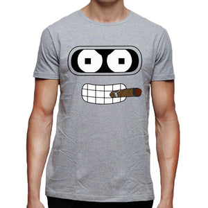 T-Shirt Homme Futurama Bender et son cigare