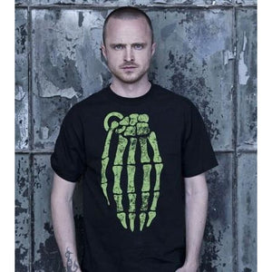 Grenade Skeleton Hand Men's T-Shirt