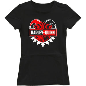 Harley quinn suicide squad Harley Davidson parody Women's T- Shirt