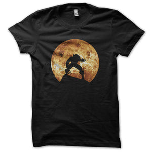 Wolverine gold color full moon background Men's T-Shirt