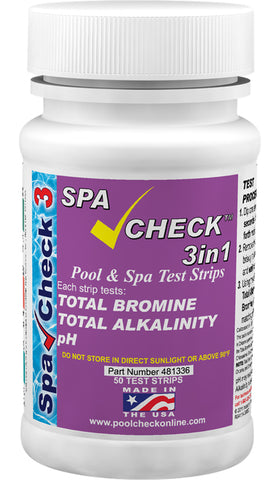 Spa Check™ 3 in1 Bottle of 50 tests