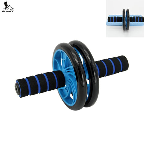 RUNACC Abdominal Wheel Roller AB Muscle Training Kit Workout Toning Roller with Free Yoga Mat Blue and Black