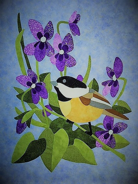 NEW The Chickadee and Purple Violet Digital Pattern
