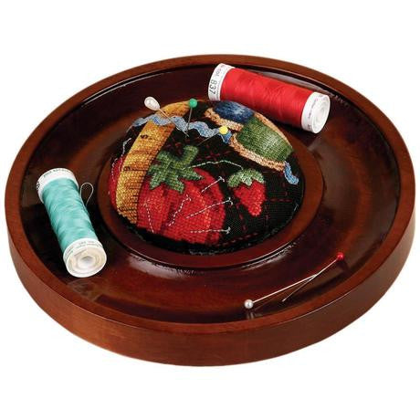 Mahogany Pincushion Tray 7""