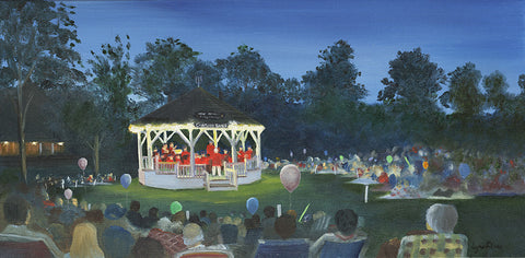 Giclee of Chatham Bandstand