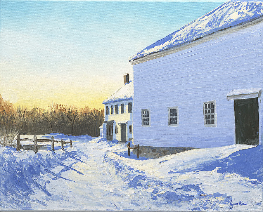 Wright-Locke Farm and Squash House - Artwork of Lynn Ricci