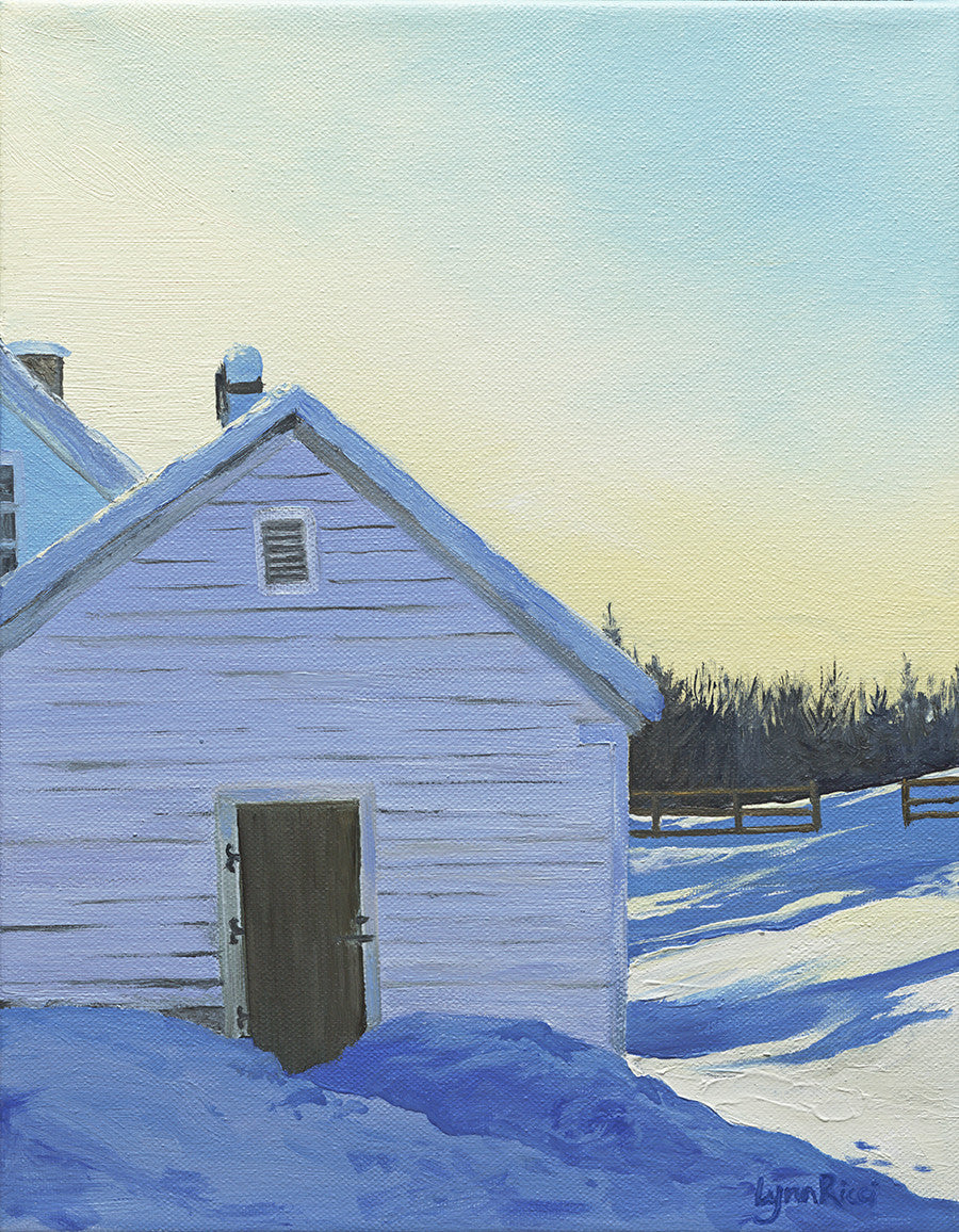 Giclee of Wright-Locke Farm Ice House - Artwork of Lynn Ricci