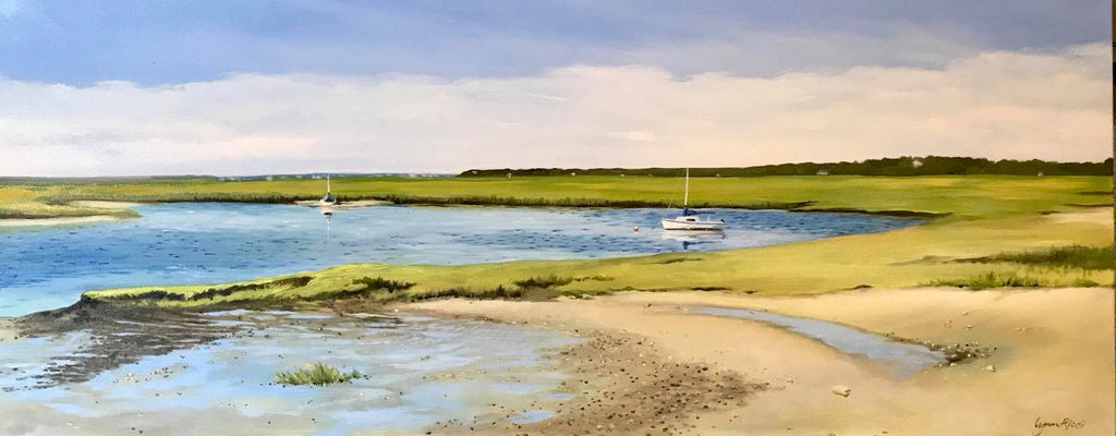 Lazy Afternoon at Boat Meadow, Eastham - Artwork of Lynn Ricci
