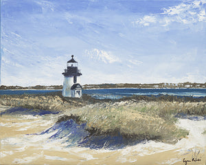 Brant Point Light on a Winters Day - Artwork of Lynn Ricci