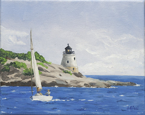 Giclee of Castle Hill Light, RI