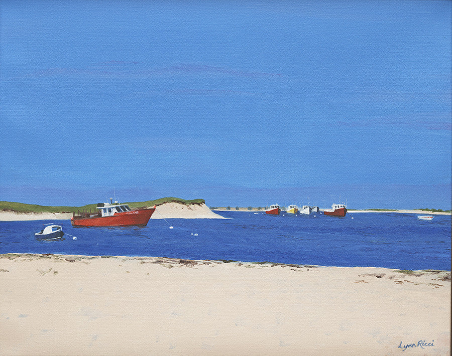 Giclee of Chatham Bars Inn Private Beach - Artwork of Lynn Ricci