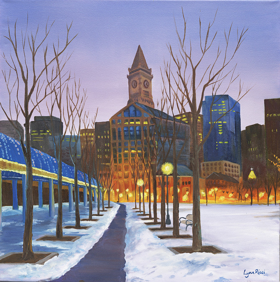 Columbus Park - North End Boston - Sold - Artwork of Lynn Ricci
