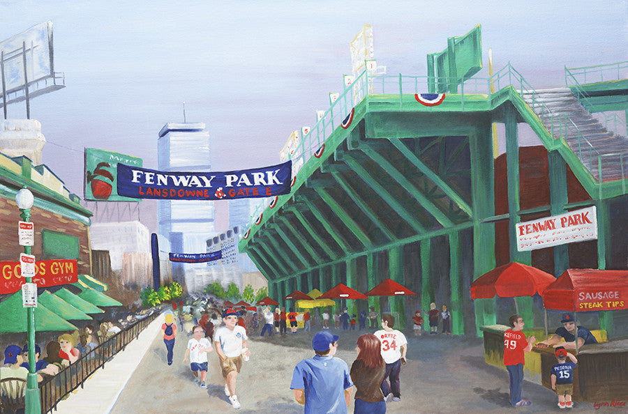 Giclee of Fenway Park ~ Gate E - Artwork of Lynn Ricci
