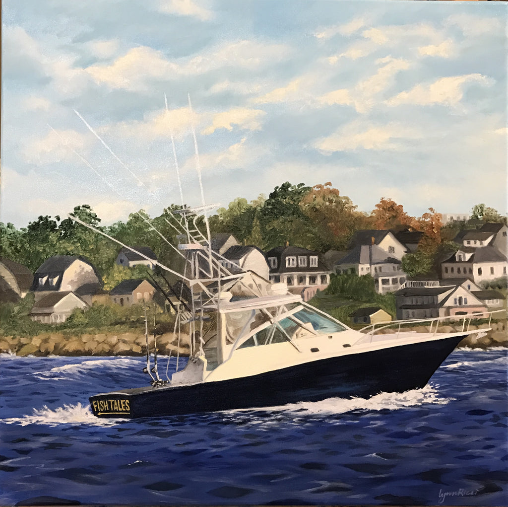 Fran's boat - Commissioned - Artwork of Lynn Ricci