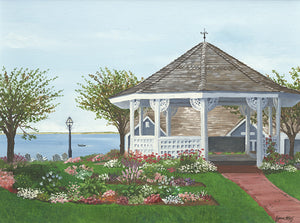 Giclee of Chatham Bars Inn Gazebo - Artwork of Lynn Ricci