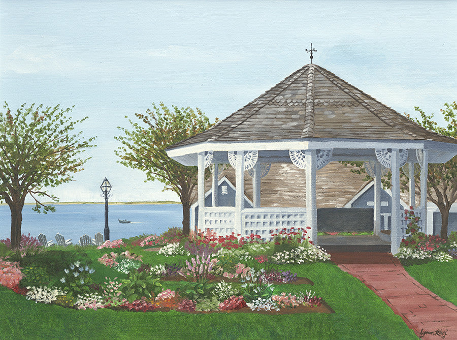 Chatham Bars Inn Gazebo - Artwork of Lynn Ricci