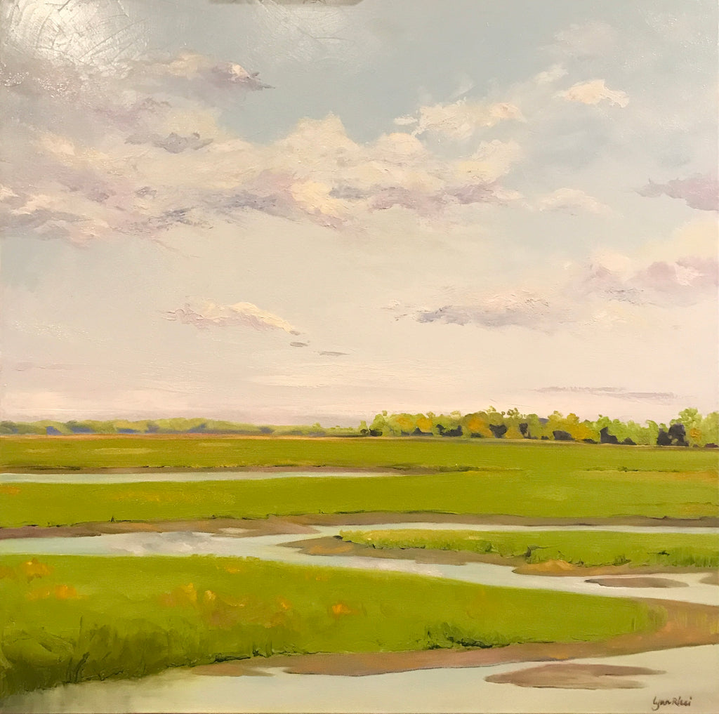 Newburyport Marshes at Low Tide - Artwork of Lynn Ricci