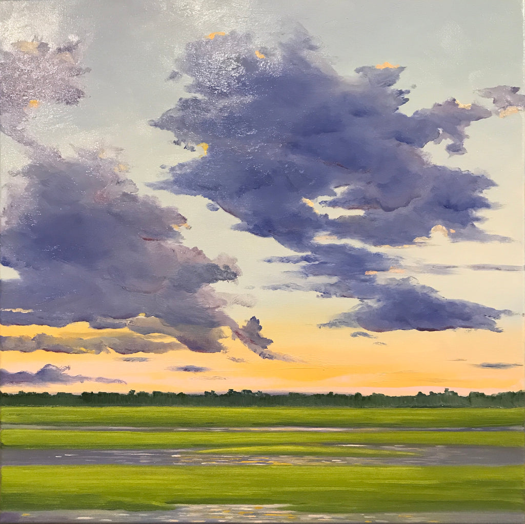 Sunset over the Marshes - Artwork of Lynn Ricci