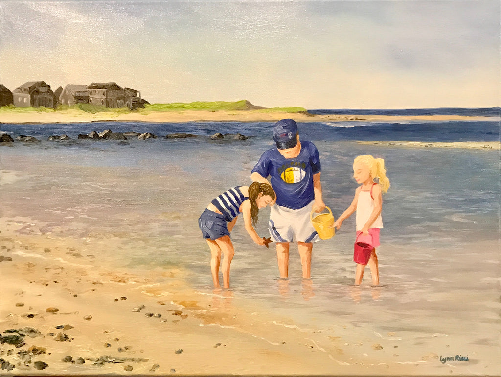 Finding a Starfish - Commission - Artwork of Lynn Ricci