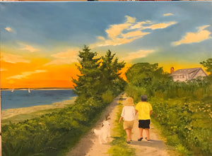 Evening Walk Along a Barnstable Path, Cape Cod - Commission - Artwork of Lynn Ricci