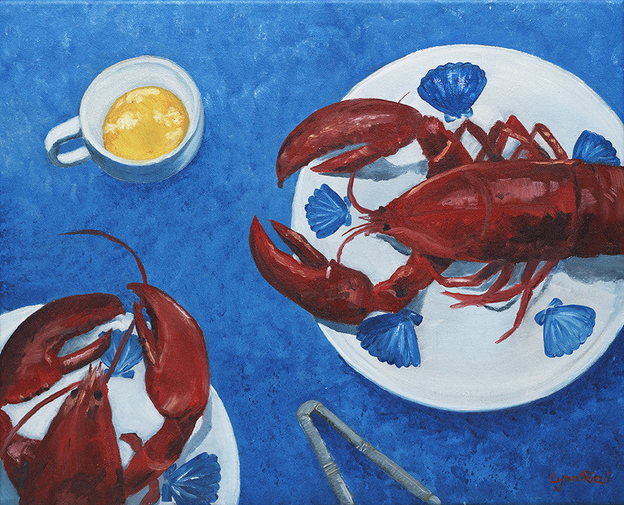 Giclee of Lobster for Two - Artwork of Lynn Ricci