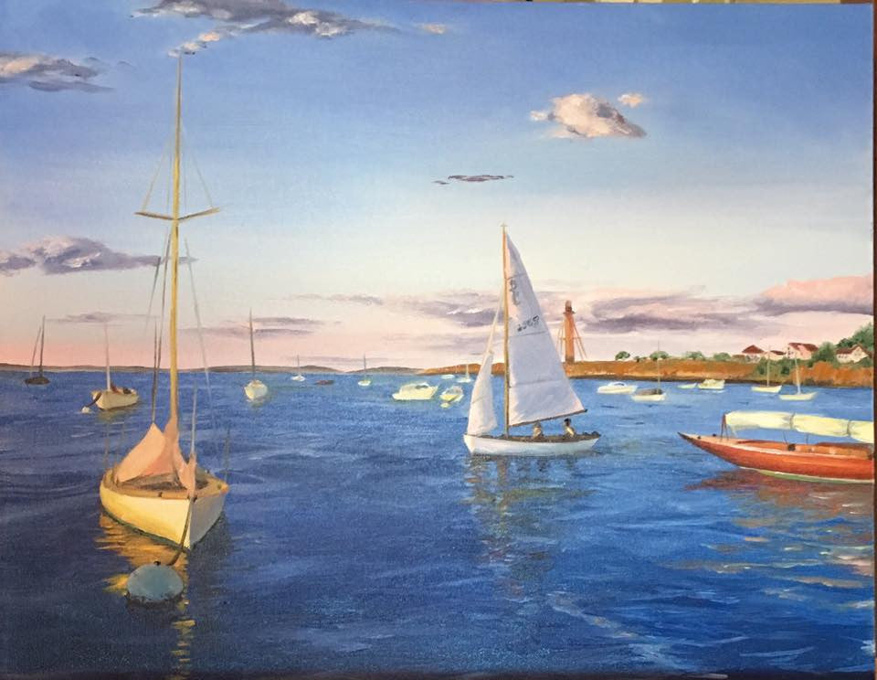 Marblehead Harbor Near Hovey Park - Commission - Artwork of Lynn Ricci