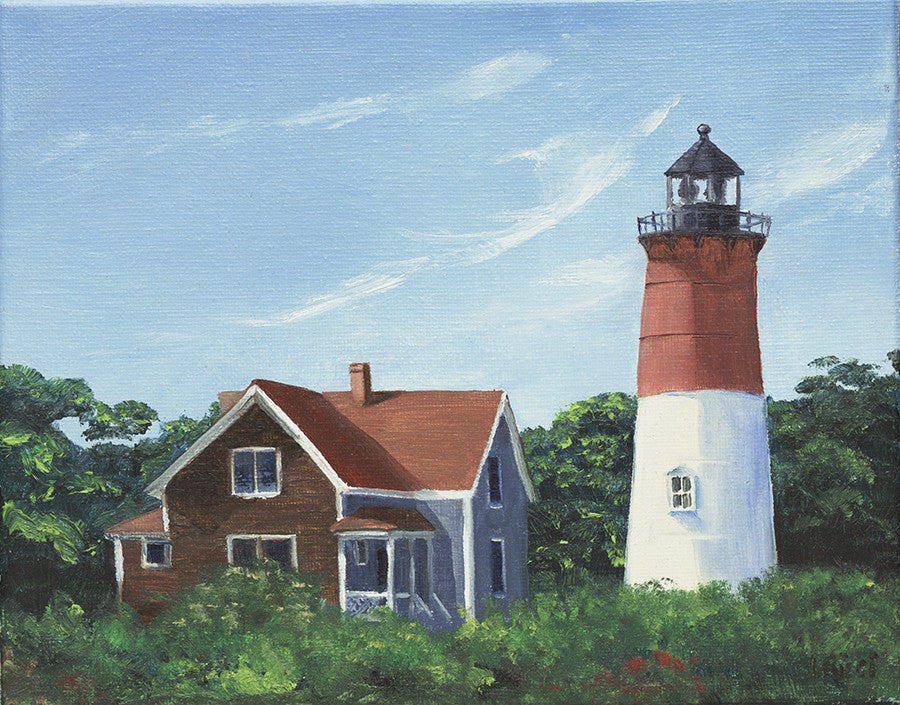 Giclee of Nauset Light - Artwork of Lynn Ricci