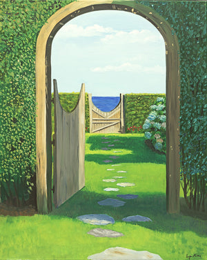 Giclee of Oceanside Backyard - Artwork of Lynn Ricci